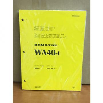Komatsu WA40-1 Wheel Loader Shop Service Repair Manual