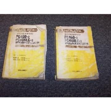 Komatsu PC400-3 PC400LC-3 Hydraulic Excavator Parts Catalog Manual Guide Set