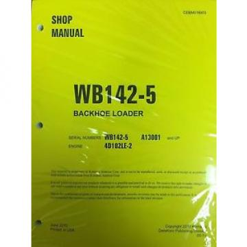 Komatsu WB142-5 Backhoe Loader Shop Manual Repair Loader A13001 AND UP SERIAL