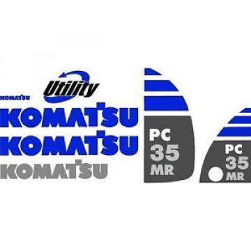 Komatsu PC 35 MR Excavator Decal Set