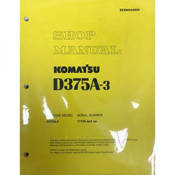 Komatsu D375A-3 Service Repair Workshop Printed Manual