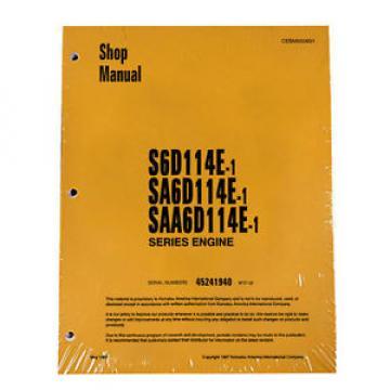 Komatsu S6D114E-1, SA6D114E-1, SAA6D114E-1 Service Printed Manual