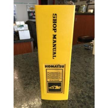 Komatsu Shop Manual Hydraulic Excavator PC-200, 210, 220, 230 w/102 Engine