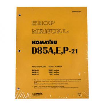 Komatsu D85A-21, D85E-21, D85P-21 Dozer Service Printed Manual