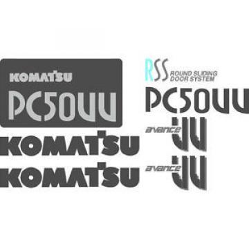 Komatsu PC 50UU NS Excavator Decal Set with RSS and Avance UU Decals