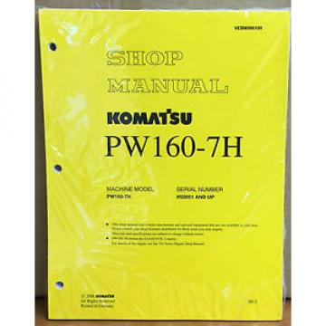 Komatsu Service PW160-7H Excavator Shop Manual NEW REPAIR
