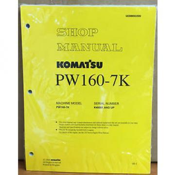 Komatsu Service PW160-7K Excavator Shop Manual NEW REPAIR