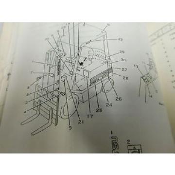 Komatsu FB20SH/25SH/30SH Parts Service Repair Maintenance Manual Book (E33-2244)