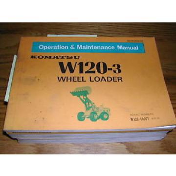 Komatsu W120-3 OPERATION MAINTENANCE MANUAL WHEEL LOADER OPERATOR GUIDE BOOK