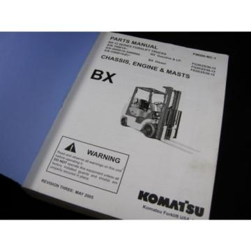 Komatsu Forklift BX-12 Series Parts Manual Book Catalog Lift Truck BX 12 OEM