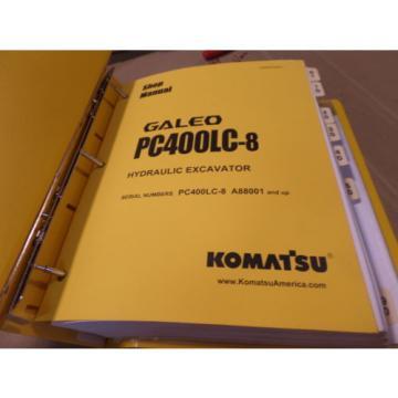 KOMATSU PC400LC-8 GALEO HYDRAULIC EXCAVATOR SHOP MANUAL S/N A88001 & UP