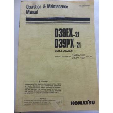 Komatsu - D39PX-21 D39EX-21 - Bulldozer Maintenance Operation Manual SEAM040200T