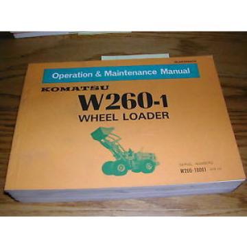 Komatsu W260-1 OPERATION MAINTENANCE MANUAL WHEEL LOADER OPERATOR GUIDE BOOK
