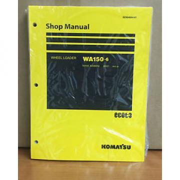 Komatsu WA150-6 Wheel Loader Shop Service Repair Manual