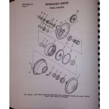 International Dresser Komatsu TD15E Dozer Crawler CHASSIS Shop SERVICE Manual IH