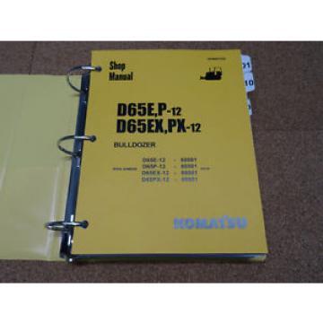 Komatsu D65E/P-12, D65EX/PX-12 Dozer Bulldozer Service Shop Repair Manual