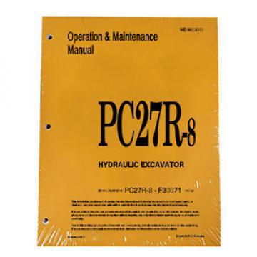 Komatsu PC27R-8 Operation & Maintenance Manual Excavator Owners Book #2