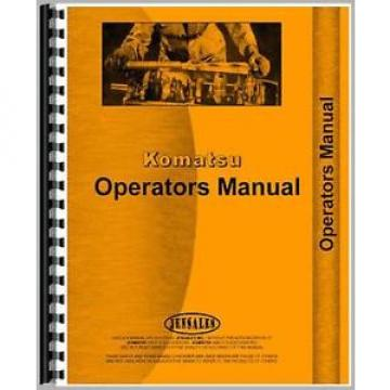 New Komatsu D31P-17A Crawler Operators Manual