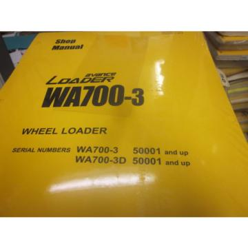 Komatsu WA700-3 Wheel Loader Repair Shop Manual Vol I & II