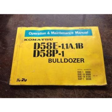 OEM KOMATSU D58E-1, 1A, 1B D58P-1 Bulldozer Operation Maintenance Manual AUC