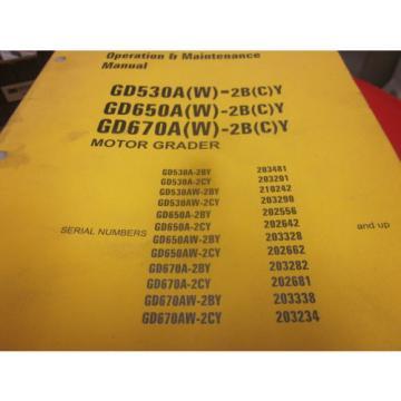 Komatsu GD530A GD650A GD670A Graders Operation & Maintenance Manual