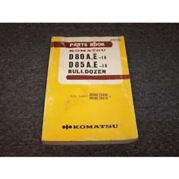 Komatsu D80A-18 D80E-18 D85A-18 D85E-18 Bulldozer Dozer Parts Catalog Manual
