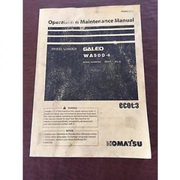 KOMATSU WA500-6 WHEEL LOADER 500 OPERATION MAINTENANCE BOOK MANUAL