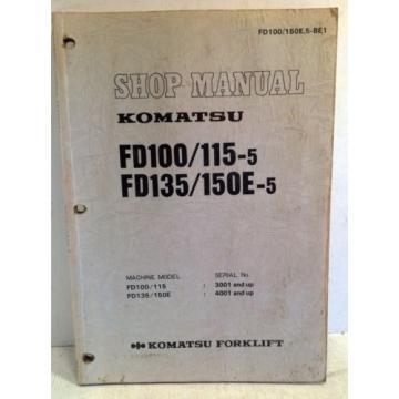 Komatsu Forklift Shop Manual FD100/115-5, FD135/150E-5, Service & Repair (3194)
