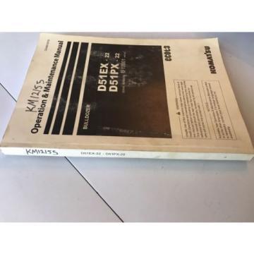 Komatsu D51EX-22 D51PX-22 Dozer Operation & Maintenance Manual