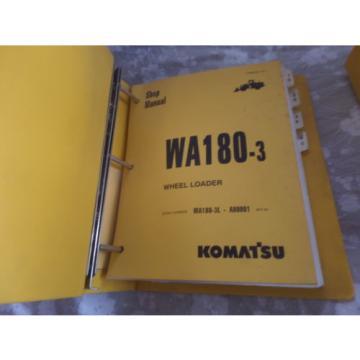 KOMATSU WA180-3 WHEEL LOADER SHOP MANUAL S/N A80001 & UP