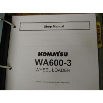 Komatsu WA380-3 420 450-3 WA600-3 SERVICE SHOP REPAIR MANUAL WHEEL LOADER GUIDE