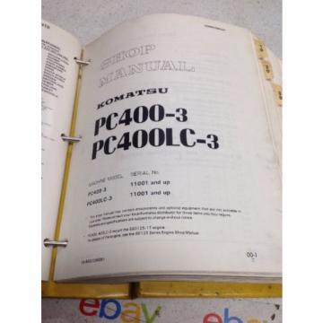 Komatsu PC400-3, PC400LC-3 Shop Manual SEBM02080307