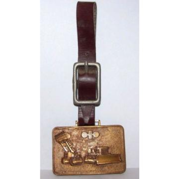 Vintage Wabco kOMATSU Crawler Loader Dozer Pocket Watch Fob JAPAN Construction