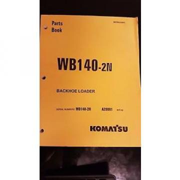 PARTS MANUAL FOR WB140-2N SERIAL A20000 KOMATSU WHEEL LOADER