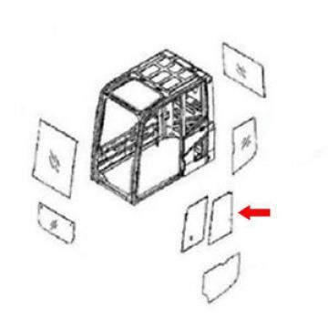 20Y-54-52840 Rear Door Slider Glass Fits Komatsu Excavator PC120-6 PC100-6