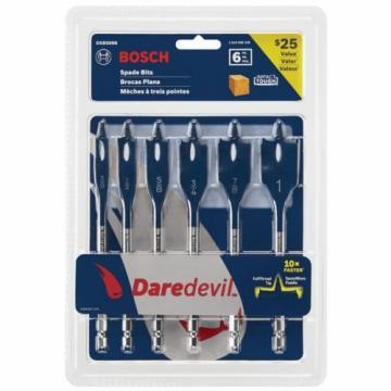 Bosch Daredevil Standard Spade Bit Set Paddle Design Faster Drilling (6-Piece)