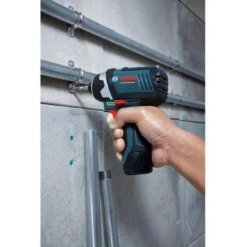 """Bosch Lithium-Ion Impact Driver/Drill Cordless Power Tool Kit 1/4"""" 12V PS41-2A"""