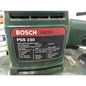 BOSCH ELECTRIC ORBITAL SANDER PSS230