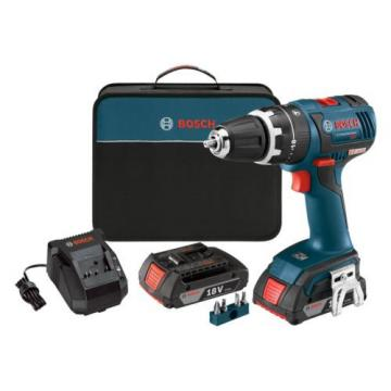 NEW Compact Powerful Brushless Hammer Drill Driver 18V Li-Ion W/ Charger Case HQ