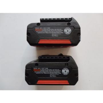 BOSCH BAT620 X 2 18V 18 Volt Lithium Ion 4.0 AH FatPack Battery
