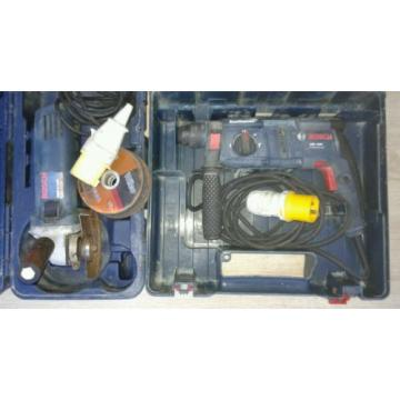 Bosch GBH 2000 3 Mode SDS Hammer Dril 110V & Bosch GWS 8-115C Angle Grinder