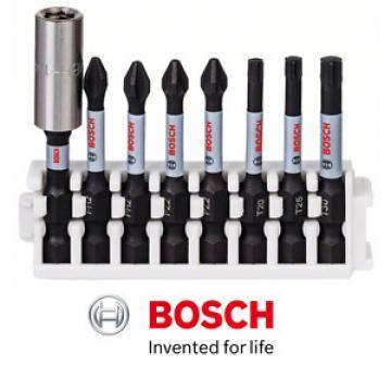 BOSCH IMPACT CONTROL 8 PIECE PH2/PZ2/T20/T25/T30 SCREWDRIVER BIT SET