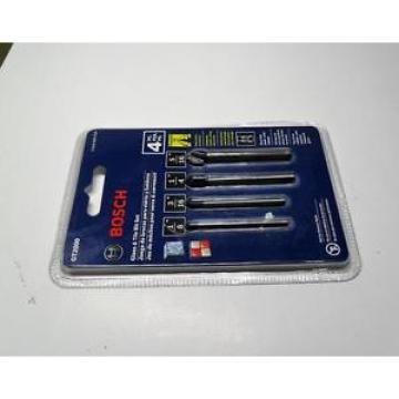 NEW Bosch GT2000 Glass and Tile 4-Piece Drill Bit Set