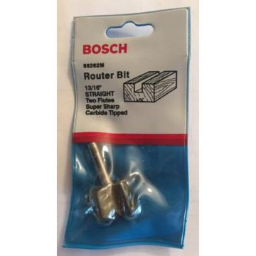 """NEW BOSCH 13/16"""" STRAIGHT TWO FLUTES CARBIDE TIPPED ROUTER BIT 85262M USA"""