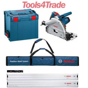 Bosch GKT55GCE Plunge Saw 2xFSN1600 Guide Rail+FSN Connector+Bag+L-BOXX 110v