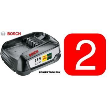 2- Bosch GREENTOOL Power4ALL 18V 2.5AH Li-ION Batteries 1600A005B0 3165140821629