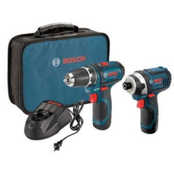 Bosch 12 Volt Max Cordless Combo Drill Driver Tool LED Kit Lithium Ion Var Speed