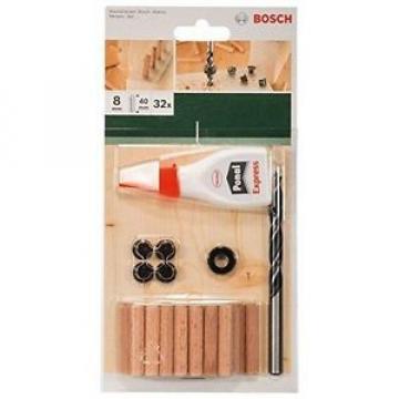 Bosch 32 Accessori, Colla, Punta per Legno, Tasselli 8 x 40 mm