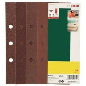 Bosch 2607019501 25 Fogli, Orbitale B&D, 93 x 230 mm, Grana 60-240