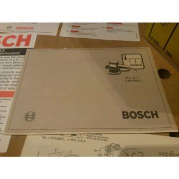 Vintage & Unused 1989 Swiss Bosch PEX115A 240v Random Orbital Sander 110mm/190w